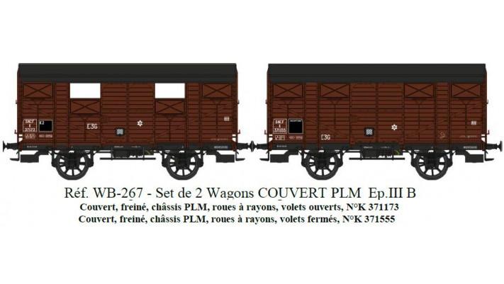 SET de 2 COUVERTS PLM  SNCF   Ep.III B Roues à rayons - Châssis PLM