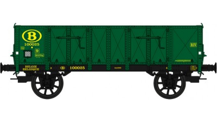 Wagon TOMBEREAU Om   LUDWIGHAFEN   Ep.III  SNCB Vert  Caisse tolee