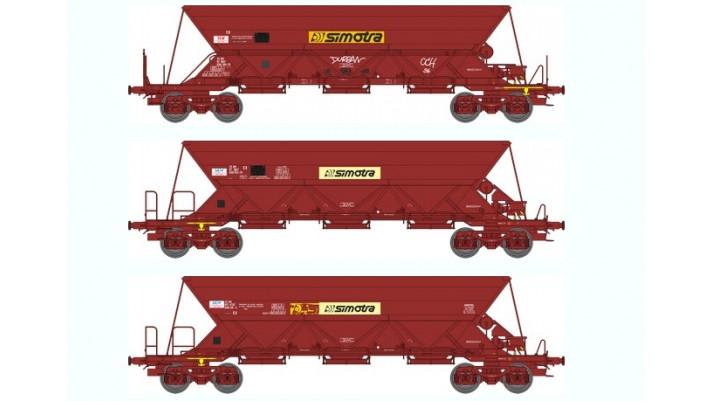 SET de 3 Wagons TREMIE EX SIMOTRA T2 T3 Ep.IV-V    T2   T3    T
