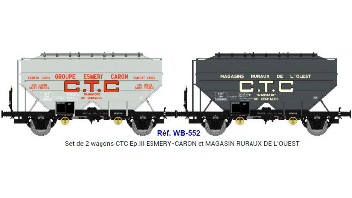 Set de 2 wagons  CTC ESMERY-CARON et MAGASIN RURAUX DE L'OUEST  Ep.III