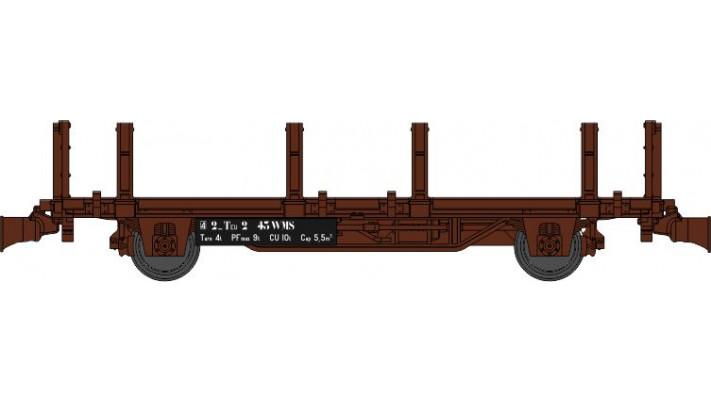 Wagonnet de Draisine (Plat à ranchers et bouts ridelles) Ep.III-IV - N