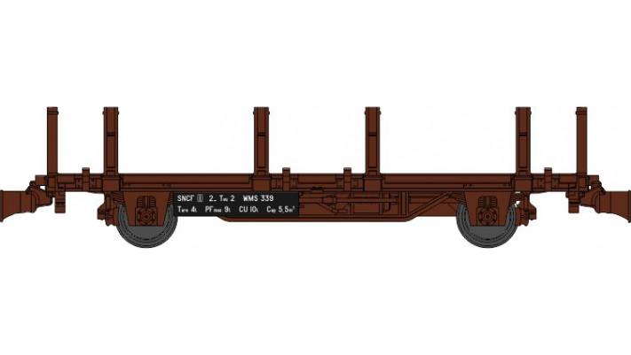 Wagonnet de Draisine (Plat à ranchers) Ep.III-IV - NOUVELLE REFERENCE