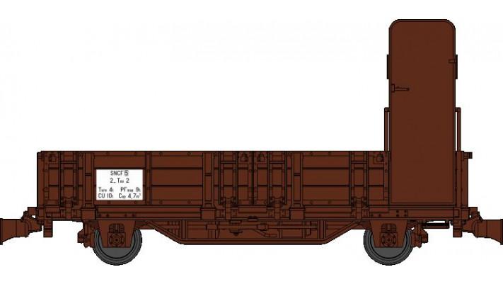 Wagonnet de Draisine (Tombereau avec guérite) Ep.III-IV - NOUVELLE REF