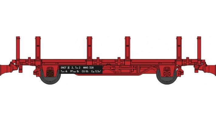 Wagonnet de Draisine (Plat à ranchers) Ep.IV-V - NOUVELLE REFERENCE