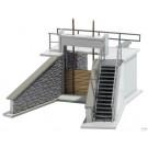 Barrage pour bassin de retention d'eau