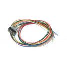 Kabelsatz mit 8-poliger Buchse nach NEM 652, DCC Kabelfarben, 30cm Län