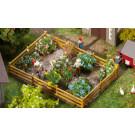 Jardin d'agrément avec fleurs et buissons
