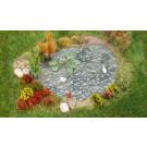 Jardin d'agrément avec étang
