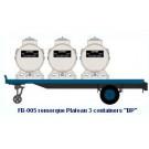 Remorque Plateau 3 containers   BP