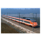 SNCF, TGV Sud-Est orange  Record Mondial 26.2.1981, 380 km/h , 4-unit