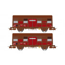 SNCF, 2-axle covered wagons Gs 4.02 with open ventilation slides, peri