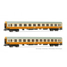 DR, set de 2 voitures  Städte-Express , livrée orange/beige, composé d