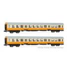 DR, 2-unit pack  Städte-Express , 2 x Bmh, orange/beige livery, period