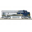Santa Fe Diesellok F7 A Blue-Bonnet - automne20