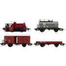 Diesellok Köf II mit Güterzug und Schienen (Locomotive diesel)