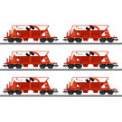 Kieswagen-Set, 6 Wagen, SBB, Ep. VI