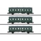 Personenwagen-Set, 3W,DR/DDR,Ep.III