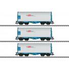 Schiebeplanenwagen-Set, 3 Wagen, RCA, VI