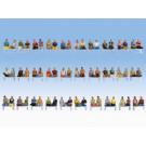 Méga-Set économique « Passagers assis », 60 figurines (sans jambes, sa