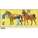 personnages à l'école d'équitation