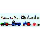 11 ouvriers de ferme et 2 tracteurs