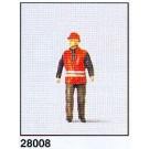 employée voie ferree+veste securité