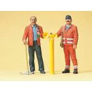 ouvrier de voie - poste de sécurite