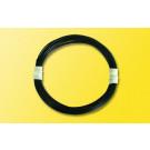 Extradünnes Spezialkabel 0,6 mm d, 5 m, schwarz