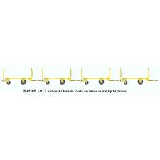 SET de 4 Chariots de Poste en Tubes métal Ep.IV Jaune