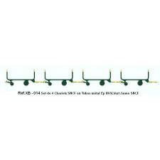 SET de 4 Chariots de Poste en Tubes métal Ep.IV-V Vert - Jaune - Brun