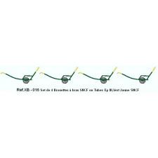 SET de 4 Chariots à Bras Ep.III Vert foncé - Jaune