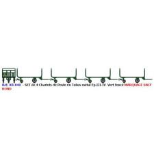 SET de 4 Chariots Poste Tubes Ep.III-IV Vert + marquages ronds