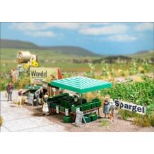 Récolte et vente d'asperges
