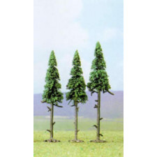 Lot de 3 sapins  115mm