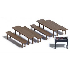 Tables banc et barbecue#
