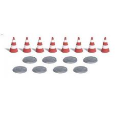 8 bouches d'égouts et 8 cône de sécurité#