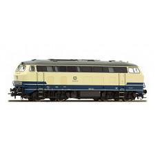 Diesellok, H0, BR 215-023, ozeanblau-beige, Epoche IV, Vorbildzustand
