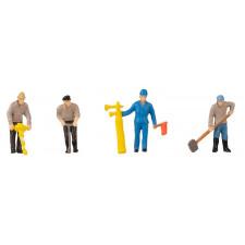Figurine + bruitage Poseurs de voie & corne de signal