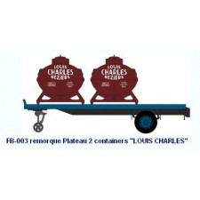 Remorque Plateau 2 containers    LOUIS CHARLES