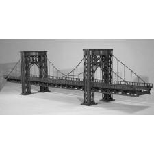 HA120 - Hängebrücke 2-gleisig -  117,5 x 23,0 x 30,0 cm GRIS