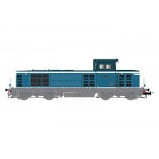 SNCF, loc diesel BB 66105, 2e sous-série, livrée bleu/blanche, ép. III