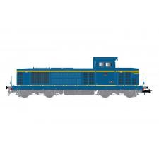 SNCF, loc diesel BB 66047, 2e sous-série, livreé bleu/jaune, ép. III