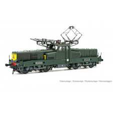 SNCF, loc elec BB 12130, 4ème type avant avec miofiltres, livrée vert,