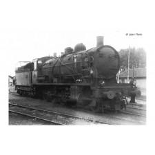 SNCF, loc à vapeur 140 C 70, avec tender 18 B 64, livrée noir, ép. III