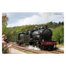 SNCF, loc à vapeur 140 C 38, avec tender 18 B 22 (Est), livrée noir à