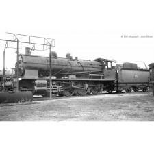 SNCF, loc à vapeur 140 C 362, avec tender 18 C 550, livrée noir/vert à