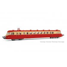 SNCF, autorail diesel ABJ 2, livrée rouge/beige avec toit rouge, ép. I