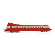 SNCF, autorail diesel ABJ 3, livrée rouge/beige avec toit rouge, ép. I