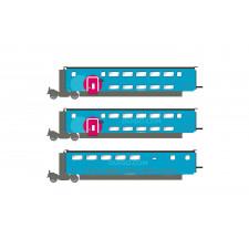 SNCF, set supplémentaire de 3 voitures, TGV Duplex Ouigo, composé de 2