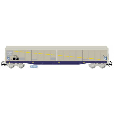 SNCF, 4-axle sliding-wall wagon Habils, rented to  Brasserie Kronenbou